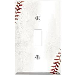 Single Toggle Wall Switch Cover Plate Decor Wallplate - Baseball