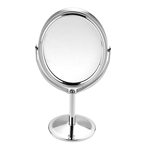 Beauty MakeUp Mirror Dual Side Normal+Magnifying Oval Stand Compact Mirror Cosmetic - Compact Dior Mirror