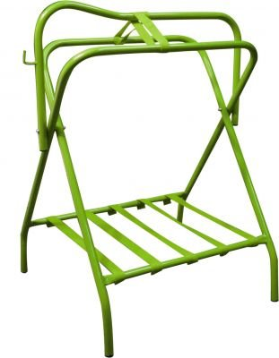 Showman Western Or English Lime Green Folding Saddle Rack