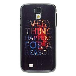 GX Carta TODO patrón caso duro de aluminio para Samsung i9500 Galaxy S4
