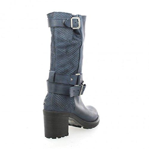 Python Bleu Cuir Bleu Cuir Pao Python Boots Pao Boots dvxwgPx