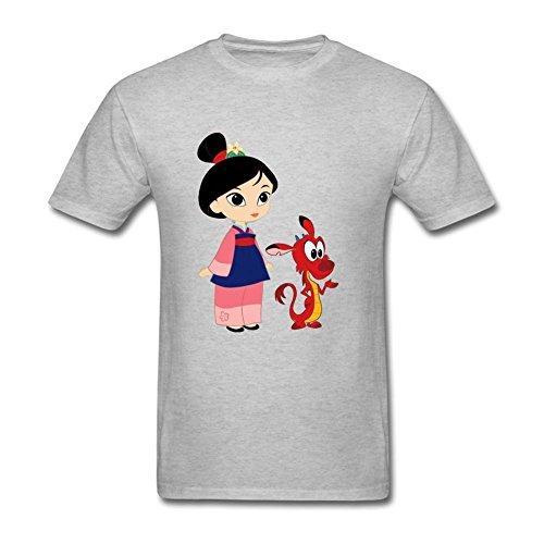 Men's Mulan DIY Cotton Short Sleeve T Shirt
