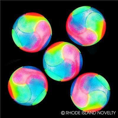 "12PC, 2"" FLASHING RAINBOW BALL"