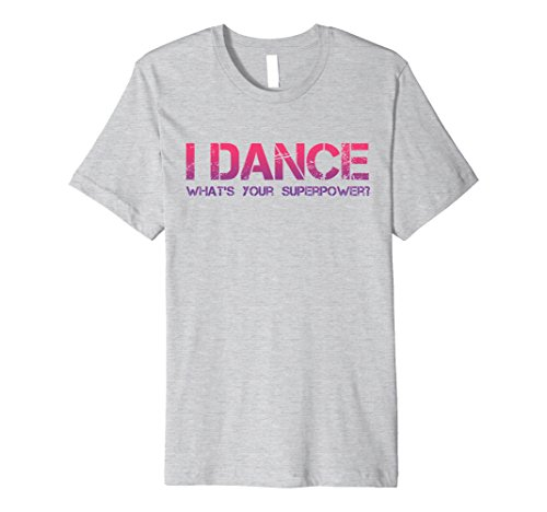 [Mens I Dance What's Your Superpower Hip Hop Dance Party Tee Shirt XL Heather Grey] (Latin Dance Costumes Men)