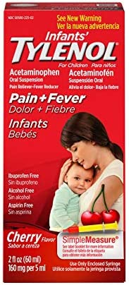 Infants' Tylenol Acetaminophen Liquid Medicine, Cherry, 2 fl