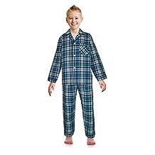 RK Classical Sleepwear Big Boys Button Front Pajama Set,