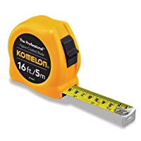 Komelon 4916IM La cinta profesional eléctrica de 16 pies de pulgada /escala métrica, amarilla