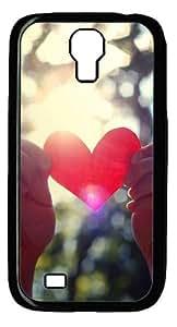 Love light shining Custom Samsung Galaxy I9500/Samsung Galaxy S4 Case Cover Polycarbonate Black