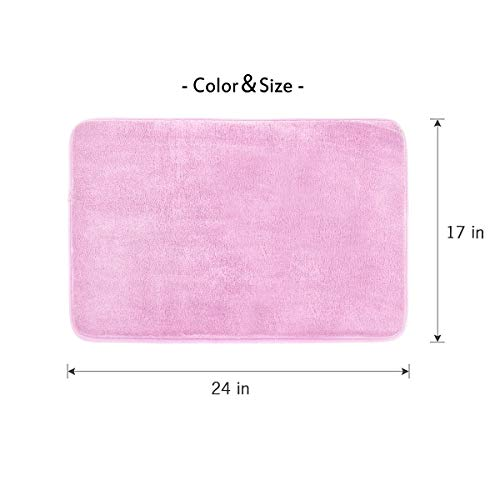 Buy pink bath mat memory foam