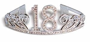 Forum Novelties Rhinestone Encrusted 18th Happy Birthday Tiara with Keepsake Box