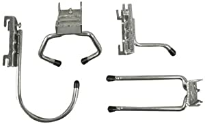 Triton Products 1745 Storability 4-Piece Hook Assortment for Combination Rail  - Round, Single, Double, Clamp