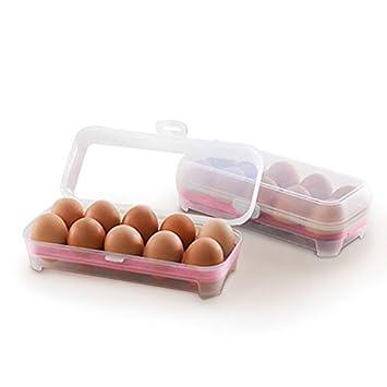 yunhigh frigorifero in plastica portauovo portauovo uovo di Pasqua con coperchio contenitore per scatola di immagazzinaggio uovo anatra impilabile per frigorifero - verde