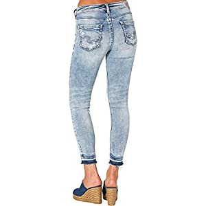 Silver Jeans Co. Women's Avery Curvy Fit High Rise Ankle Skinny