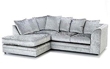 Luxe Sofas Marca Plata Tela de Terciopelo Arrugado sofá de ...
