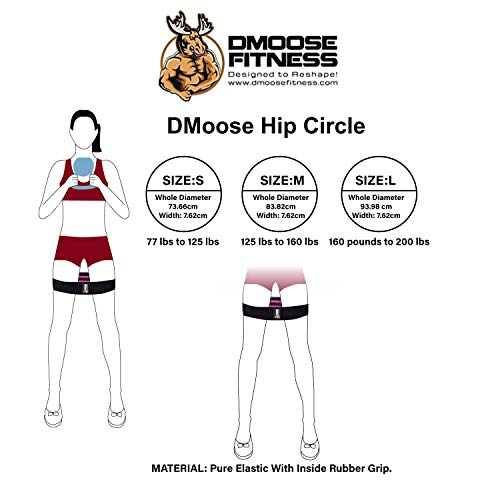 Single Reinforced Double Stitching DMoose Fitness Heavy Duty Hip Resistance Band Home Gym ...