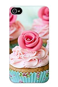 Yellowleaf Durable Defender Case For Iphone 4/4s Tpu Cover(i Love Cupcake) Best Gift Choice