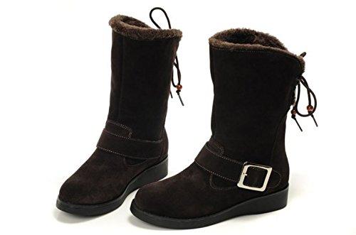 Ankle Low Buckle Booties Straps Women's Heel Studio Coffee SK YvCq11