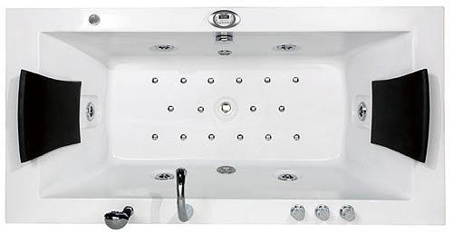 Badewanne 2 personen maße  Whirlpool 2-Personen Villa Eugenie mit Radio LED, Wasser und ...