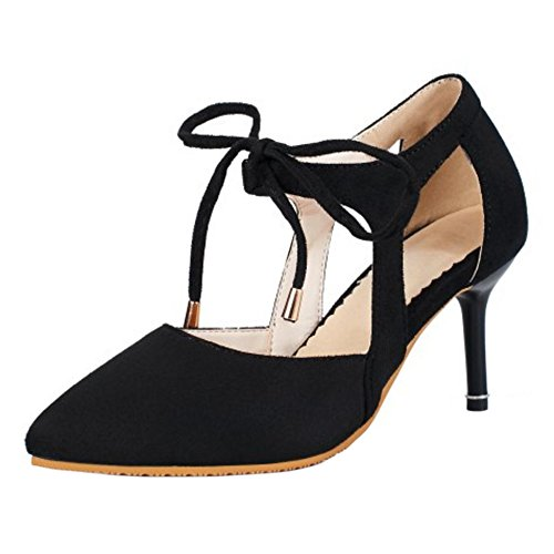 Black MOSHA Thin Heels Shoes Heel TAOFFEN Women aqvYFF