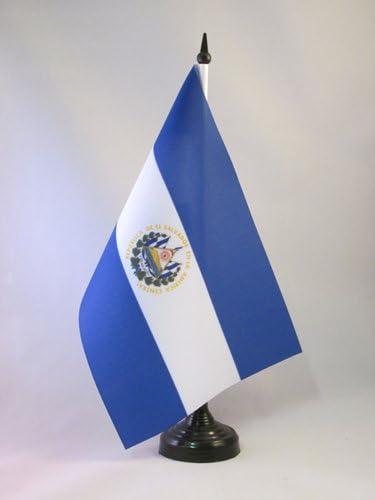 AZ FLAG Bandera de Mesa de EL Salvador 21x14cm - BANDERINA de DESPACHO SALVADOREÑA 14 x 21 cm: Amazon.es: Hogar