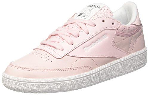 white Sneaker silver Pink skull Club porcelain Metallic Donna Grey 85 C Fbt Rosa Reebok azqCx