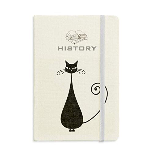Black Cat Sit Halloween Animal Art Silhouette History Notebook Classic Journal Diary -