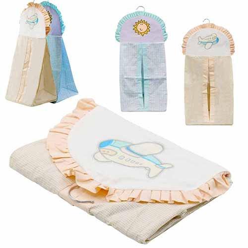 Para colgar bolsa de basura de malla transpirable bebé pañales de almacenamiento organizador bolsa de embalaje Lake Blue Talla:onesize Lake Blue