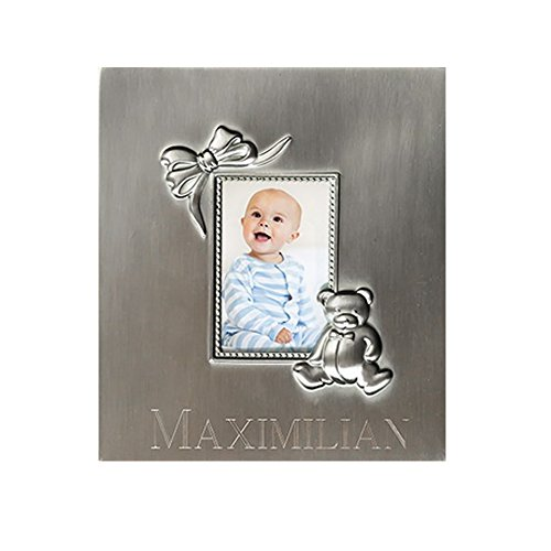 - GiftsForYouNow Silver Personalized Baby Photo Album