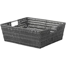 Whitmor Rattique Shelf Tote Grey