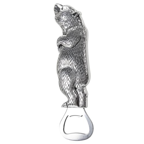 Thirstystone Bottle Opener, Standing Bear, Silver