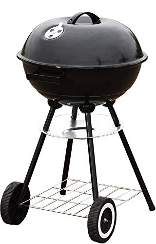 "Unique Imports #1 Portable 18' Charcoal Grill Outdoor Original BBQ Grill Backyard Cooking Stainless Steel 18"" Diameter Cooking Space Cook Steaks, Burgers, Backyard Pitmaster & Tailgate !"