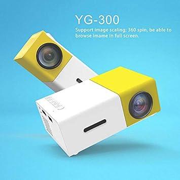 FJHJB Cimva YG300 Proyector Profesional Mini HD1080P Proyector de ...