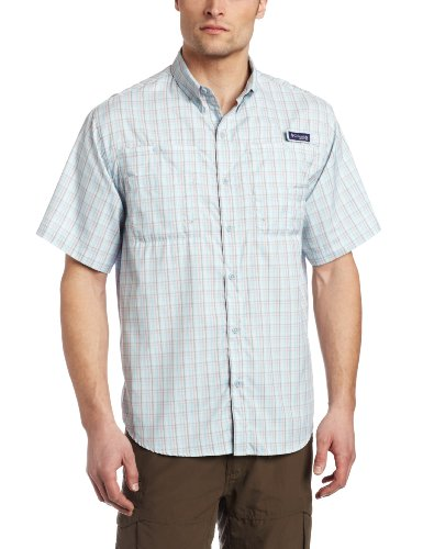 Columbia Men's Super Tamiami Short Sleeve Shirt, X-Large, Mirage/Double Check