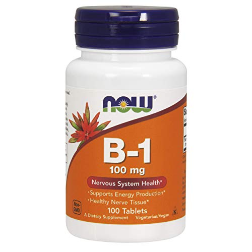 Now Foods Vitamin B-1 Thiamine, 100mg – 100 Tabs