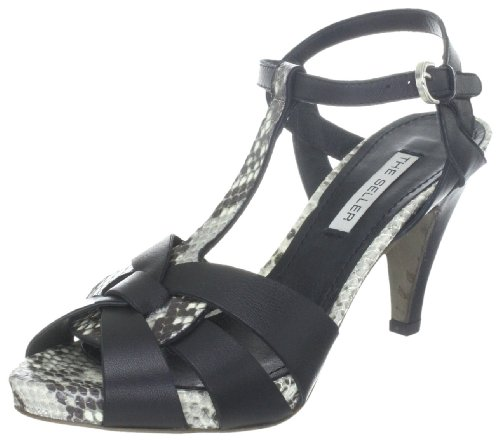 The Seller Adine S511, Damen Fashion-Sandalen Schwarz (bianco/nero)