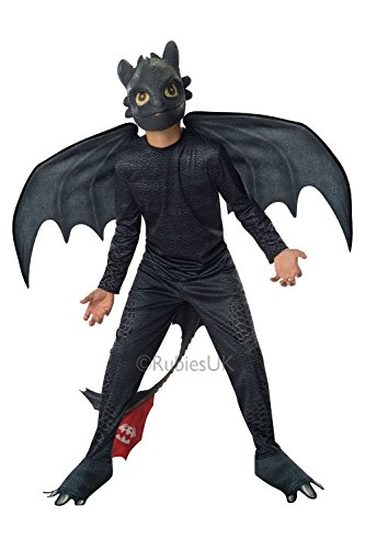 Toothless Night Fury Costumes (Rubies How to Train Your Dragon 2 Night Fury Costume, Child Medium)