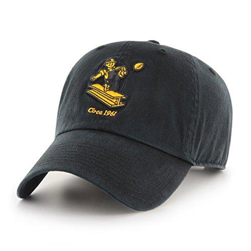 OTS NFL Pittsburgh Steelers Legacy Challenger Adjustable Hat, One Size, Black