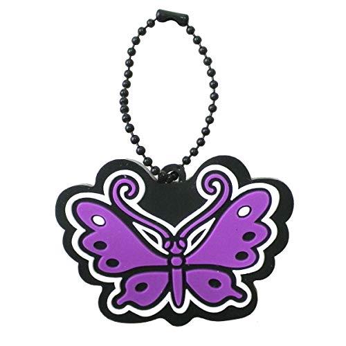 [해외](안 나) ANNA SUI 키체인 액세서리 장미 장미 로즈 나비 나비 나비 고무 링 매력 브랜드 / Anasui ANNA SUI Key Chain Accessories Rose Rose Butterfly Butterfly Rubber Key Ring Charm Brand