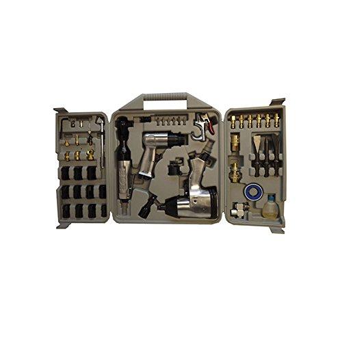 50 Pc Air Tool Kit Air Impact Wrench Air Ratchet Chisel Impact Socket Tool Set
