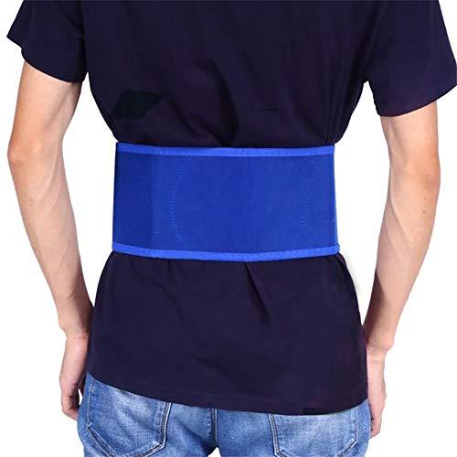 (XWU Waist Support Durable Magnetic Waist Belt with Tourmaline Blue Waist Protection Back Warmer)