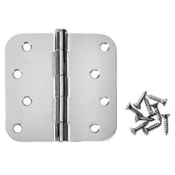 Captivating Cosmas Polished Chrome Door Hinge 4u0026quot; Inch X 4u0026quot; Inch With 5/8u0026quot