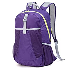 Outdoor Mountaineering Bag Bicycle backpack Multi-Function Travel backpack Large Capacity Waterproof Folding Annacboy (Color : Purple)