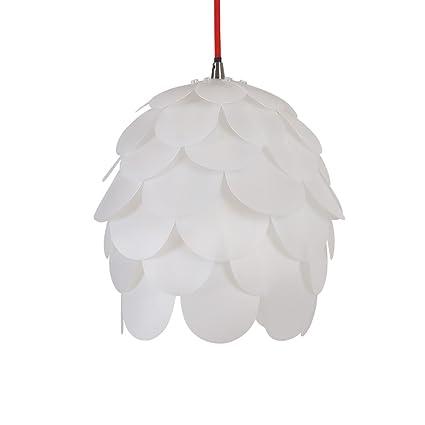 HROOME DIY Pantalla de Pinecone Flor colgante de luz lámpara de Techo Lámpara de Araña Luz Pendiente Moderna de la Luz de Techo de la Sala Dormitorio ...