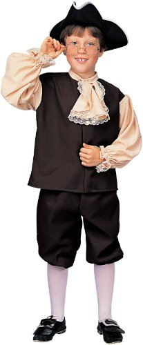Colonial Boy Costume Large Child (Large) (Colonial Day Costumes)
