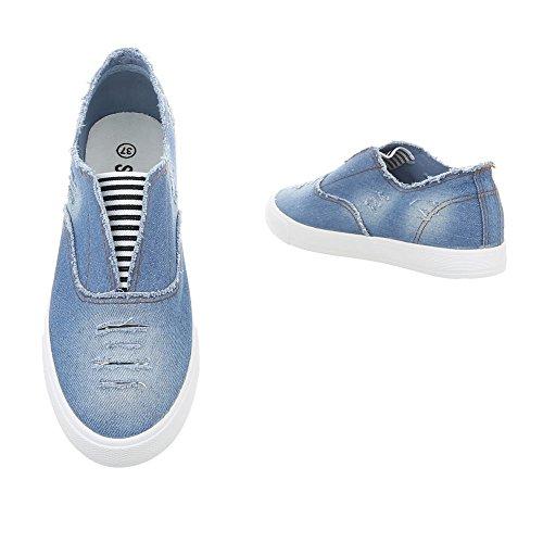 R13 Halbschuhe Hellblau Design Ital Slipper Damenschuhe 0q8vWF1