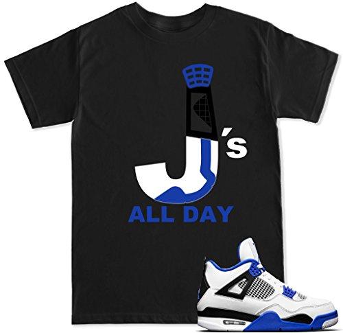 FTD Apparel Men's J's All Day Motorsport T Shirt - Medium Black by FTD Apparel
