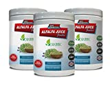 Immunity Booster Pills - Alfalfa Juice Powder - Organic Dietary Supplement - Powder Alfalfa - 3 Cans 24 OZ (150 Servings)