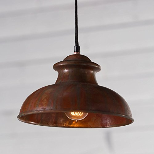 Kalalou Pendant No. 8 - Antique Rustic ,Copper ,10L x 10W x 6H