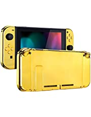 eXtremeRate Soft Touch Back Plate for Nintendo Switch Console, NS Joycon Handheld Controller Housingwith Full Set Buttons, DIY Replacement Shell for Nintendo Switch