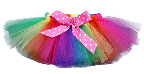 [Tutu Dreams Rainbow Tutus for Toddler Girls (4-for 3-4T, Rainbow)] (Tutu For Toddler)